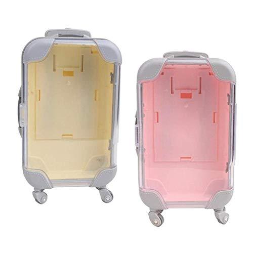 ZSMD 2X Mini maleta de simulación de maleta adaptada a los accesorios de muñeca niña 18'