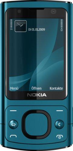 Nokia 6700 slide Handy (UMTS, GPRS, Bluetooth, Kamera mit 5 MP, Musik-Player) petrol blue