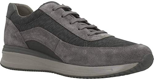 Geox U Dennie A, Scarpe da Ginnastica Basse Uomo, Grigio (Grey C1006), 41 EU