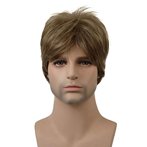Lydell Men Wig Short Straight Natural Synthetic Full Wigs #AB607