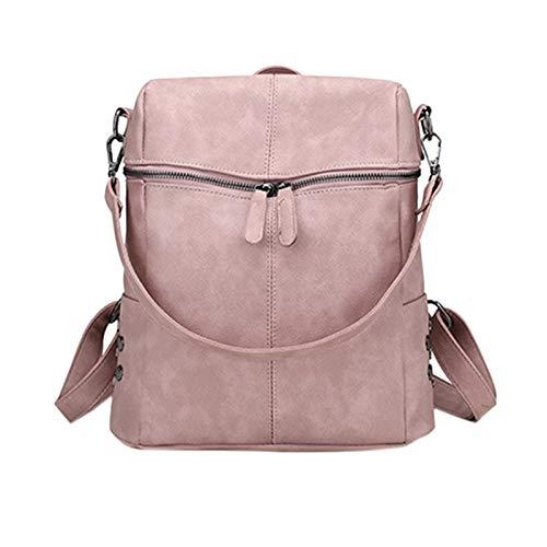 ZHEBEI Backpack ladies waterproof zipper shoulder bag youth school bag