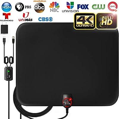 [2020 Latest] Amplified HD Digital TV Antenna Long 120 Miles Range