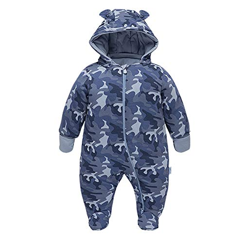 DDY Newborn Baby Boy Girl Snowsuit Romper Cotton Infant Onesies Hooded Jumpsuit Winter Outwear Outfits Camouflage(0-18M)