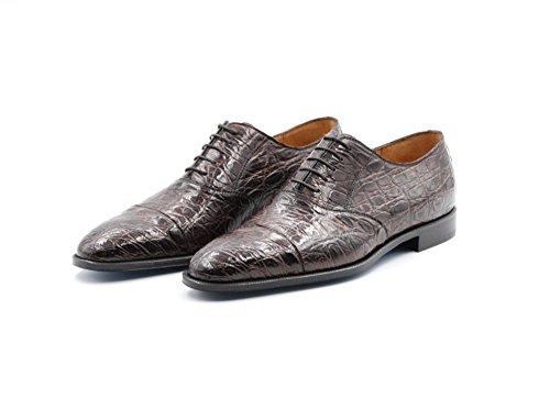 Zapatos Sutor Mantellassi de Cuero de cocodrilo (43 EU, Marrón Oscuro)
