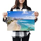 Póster de vinilo de destino A3 – Cancun Beach México Holiday Art Print 42 X 29,7 cm 280 gsm satinado papel fotográfico #21312