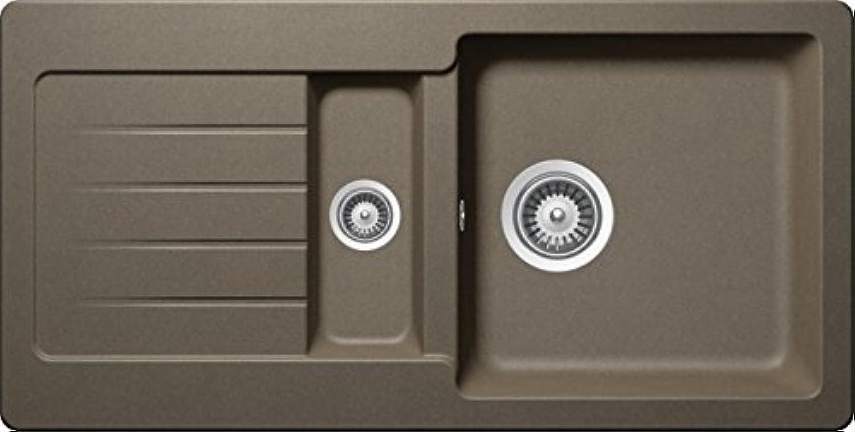 SCHOCK Spüle TYPOS D-150S-U Cristalite+   60cm Unterschrank Unterbau   Farbe Alpaca   TYPD150SUALP