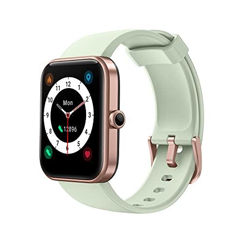AKWLOVY Smartwatch, reloj de fitness Tracker de 1,69 pulgadas con pantalla táctil Alexa integrada y pulsómetro para mujer y hombre, seguimiento de actividad de 5 ATM