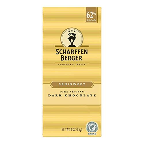 Scharffen Berger Dark Chocolate Bar, 3-ounces (Pack of 6)
