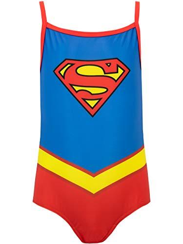 DC Comics Mädchen Supergirl Badeanzug Blau 104
