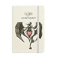 壊れた鎧の愛の心の巨大な翼 歴史ノートクラシックジャーナル日記A 5