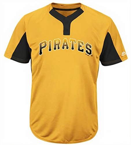 Majestic Pittsburgh Pirates Premier Eagle Cool Base Men's 2-Button Jersey Medium