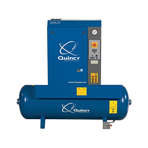 Quincy QGS Rotary Screw Compressor - 7.5 HP, 230 Volt Single Phase, 60 Gallon, 21.2 CFM, Model Number QGS-7.5TM