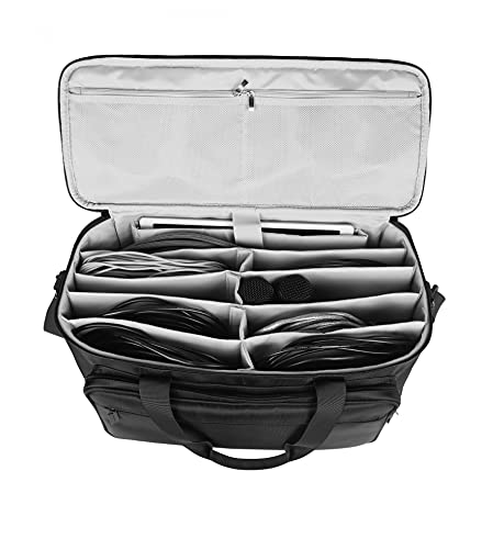 BUBM Travel Gig Bag with Handle Cable File Bag Musical Instrument Accessories Organizer for Cords, Sound Equipment, DJ Gear, Musician Accessories