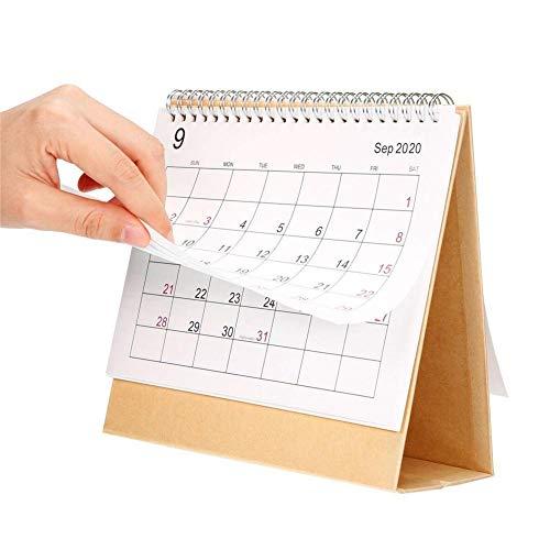 Famiglia o Ufficio Aziendale Calendario da Tavolo Flip-up Stand Up Benefit S-tubit Calendario da Tavolo 2019-2020 Scrivania mensile Pianificatore di tavoli da Ufficio Data Blocco Note Insegnante