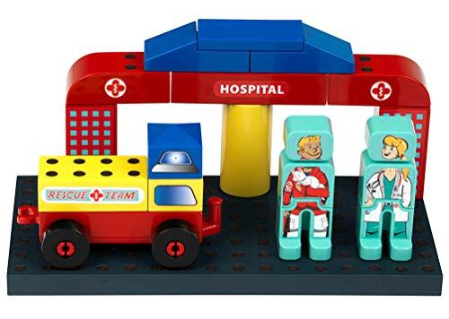 Theo Klein 0014 0014-MANETICO Rettungsstation, Spielzeug, Rot