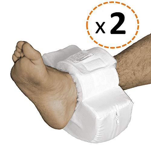OrtoPrime Fersenschoner Antidekubitus Pack 2 - Ekubitus Fersenschutz - Anti Dekubitus Fell - Fußstütze Kissen - Gesundheit und Körperpflege