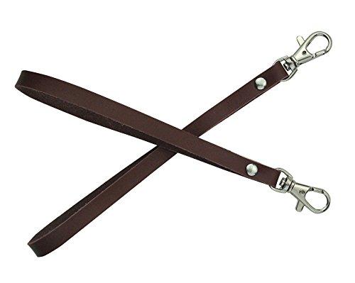 2 pezzi in vera pelle cinturino da polso per portafogli frizione... borsa chiavi portachiavi marsupio (brown)