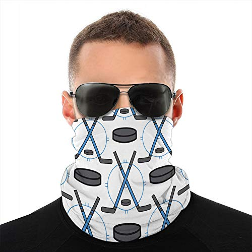 jiilwkie 262 Neck Gaiter Windproof Cover Cover Shield Bandanas for Dust, Outdoors, Sports Sport Hockey Icons in Flat Design Line Pictogram Neck Guêtres
