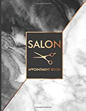 Salon: Appointment Book 2019 Black and White Marble Hair Stylist Daily Hourly Client Planner