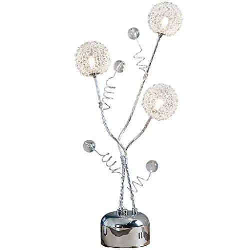 Lámpara de Mesa Regalo de Bodas de Plata de la Flor Lámpara de Mesa de Aluminio Dormitorio cálido lámpara de cabecera del cumpleaños de Las linternas decoración de la Tabla Ahorrar ene