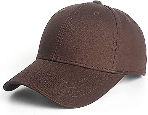 Etyepoh Unisex Kappe - Baseball Cap für Herren und Damen, Verstellbar Reine Farbe Baseboard Baseballkappe Mütze (A-Kaffee)