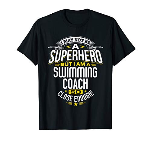 Swimming Coach TShirt Gift Idea Superhero Swimming Shirt