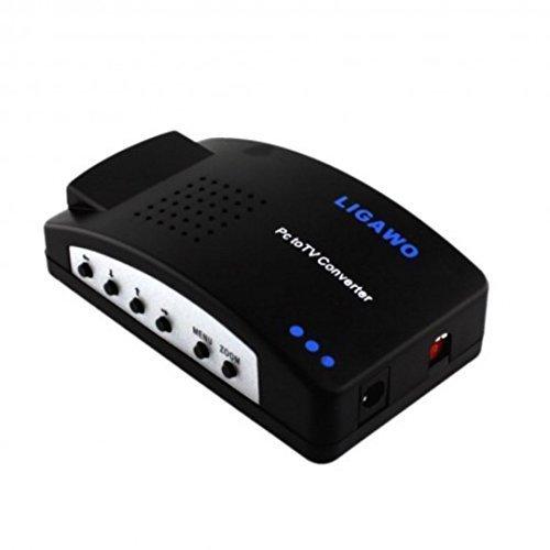 Ligawo ® Pc TV Konverter - VGA Pc Laptop Netbook Notebook ganz einfach mit dem Tv oder Beamer verbinden