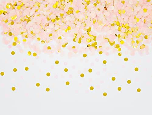 Cavore Konfetti Gold Mehrfarbig, 1cm rund, 30g, 1500 Stück – Elegante und Moderne Partydeko – Geburtstag, Hochzeit, Baby-Shower