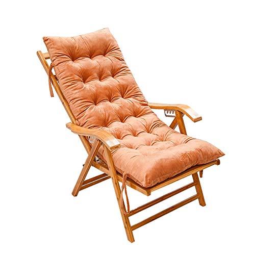 YYEWA - Cuscino per sedia a sdraio, imbottito, spesso, per primavera/estate, stagionale, per tutte le condizioni atmosferiche, colore marrone