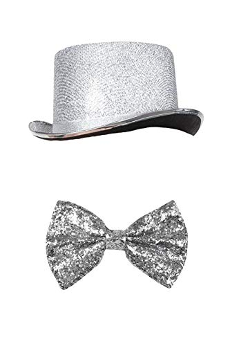 Marco Porta Silvester Outfit Zylinder Set (Silber)
