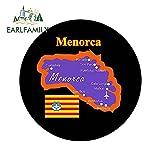 FAFPAY Sticker de Carro 13 cm x 13 cm Bandera de Mapa de Menorca Recuerdo Redondo Novedad Pegatina de Coche para Nevera para camión Barco SUV Motocicleta gráficos