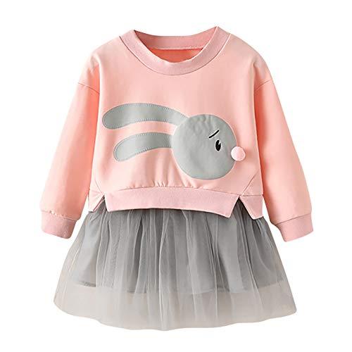 HUI.HUI Enfants Bébé Fille Printemps Automne Bande Dessinée Princesse Patchwork Sweat-Shirt + Tutu Robe Ensemble Vêtements
