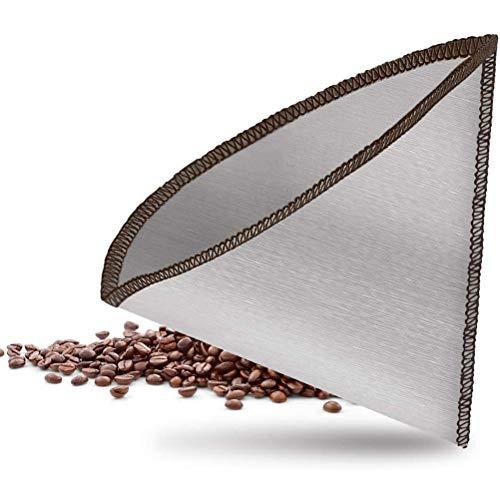 Fliyy Wiederverwendbares Netz Kaffeefilterpresse Ersatzfiltersieb, Edelstahl-Netzfilter, Kaffeefilter übergießen Flexibel