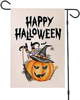 Halloween Garden Flag Double Sided – Happy Pumpkin Halloween Garden Burlap Decorative Home Yard Outdoor Indoor Flag - Hous...