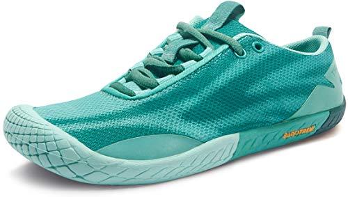 TSLA Women's Trail Running Shoes, Lightweight Athletic Zero Drop Barefoot Shoes, Non Slip Outdoor Walking Minimalist Shoes, Barefoot(bk62) - Aqua, 9