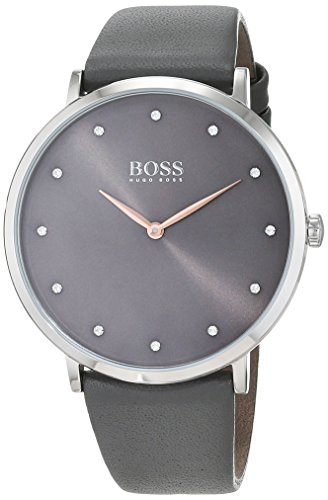 Hugo Boss Damen Datum klassisch Quarz Uhr mit Leder Armband 1502413