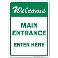 Main Entrance - Enter Here Sign [並行輸入品]