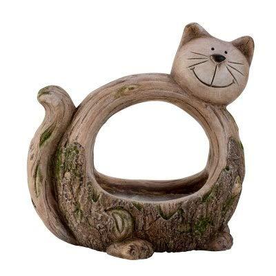 Gartendeko Katze zum bepflanzen Dekokatze Pflanzkatze Gartenfigur Gartendeko Deko Figur Katze Pflanzgefäß Pflanzfigur