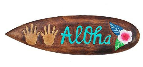 Surfboard 60cm Dekoration Aloha Surbrett im Tiki Beach Style Hawaii