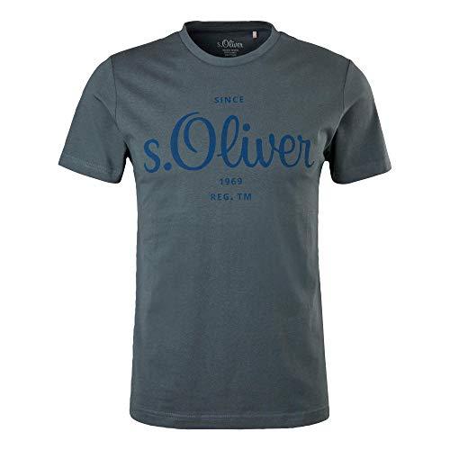 s.Oliver Herren Logo 130.11.899.12.130.2023749 T-Shirt, Dark Grey, M