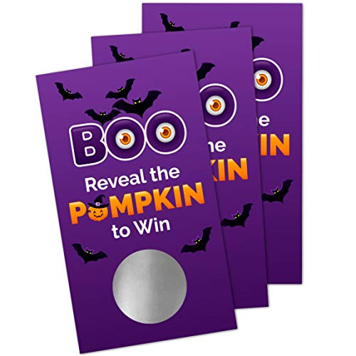 Halloween Scratch Off Game Cards (30 Pack) - Halloween Party Activity Supplies - Fall Events - Pumpkins - Lottery Raffle Tickets