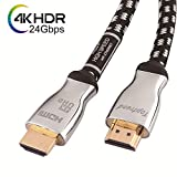 4K HDMI ケーブル Toptrend HDMI2.0 ケーブル 24Gbps 1.8m 3重シールドノイズ対策 28AWG銅導体 4K/60Hz 3D UHD HDR ARC イーサネット対応