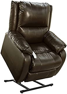 """NM-2650 (Sta-Kleen Vinyl-Chestnut) Mega Motion Power Lift Recliner Chair.Weight Capacity: 375 lb. Suggested User Height: 5'6"""" to 6'. Free Curbside Delivery."""