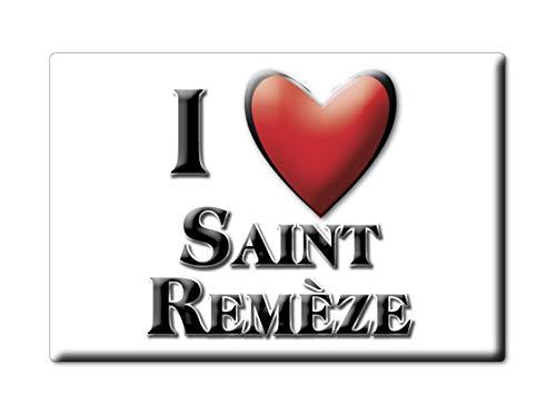 Enjoymagnets Saint REMÈZE (7) Souvenir IMANES DE Nevera Francia Bourgogne IMAN Fridge Magnet Corazon I Love