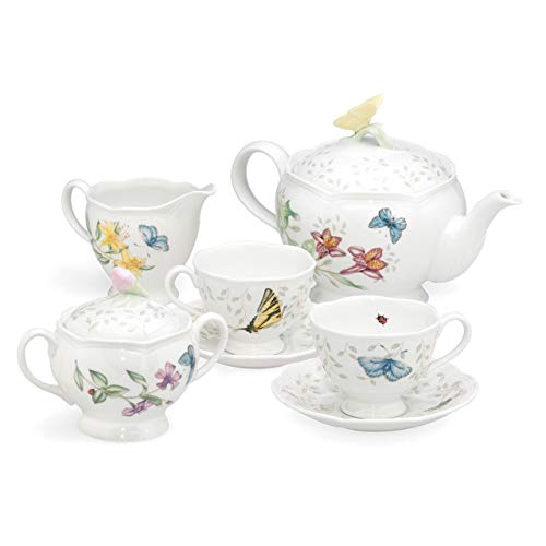 Lenox Butterfly Meadow 8-Piece Tea Set, Service for 2, White