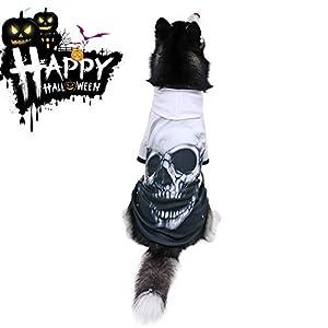 PAWZ Road Sweats à Capuche Chien l'image de la tête de Mort, Vêtement Chien très Cool