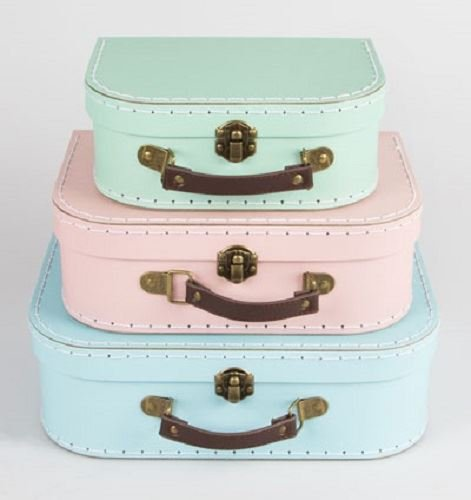 Set of 3 Retro Storage Suitcases