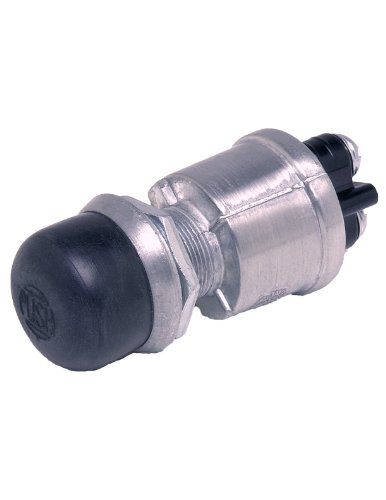 Cole Hersee 90030-BP Push-Button Switch with Screw-On Cap