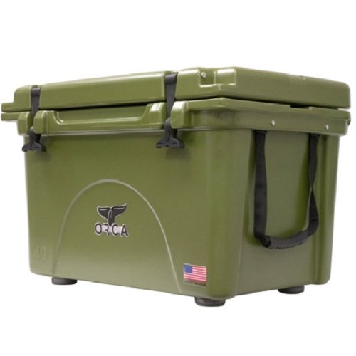 ORCA ORCG040 Cooler with Extendable flex-grip handles for comfortable solo or tandem portage, 40 quart, Green