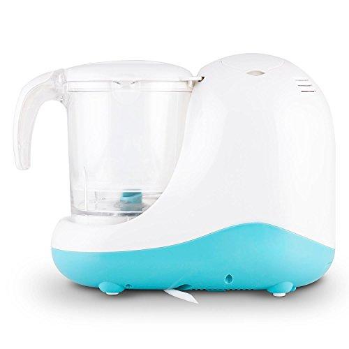 Klarstein Junior Chef Linus • Babynahrungszubereiter • 5-in-1 Mixer • Dampfgarer • Sterilisator • 700 Watt Heizelement • 200 Watt Motor • Mixbecher • Dampfeinsätze • Spritzschutz • blau-weiß - 3